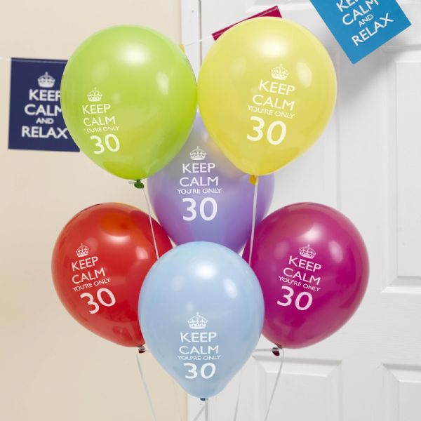 Keep Calm You're Only 30 Balloons (8)